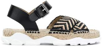 Stella McCartney cross strap espadrille sandals