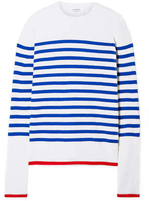La Ligne - Striped Cashmere Sweater - Ivory
