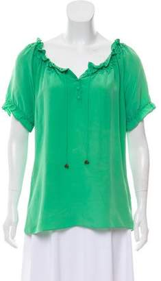 Joie Silk Embellished Blouse
