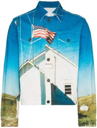Calvin Klein Jeans Est. 1978 flag print denim jacket