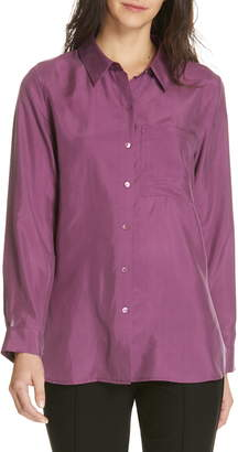 Eileen Fisher Washed Silk Blouse