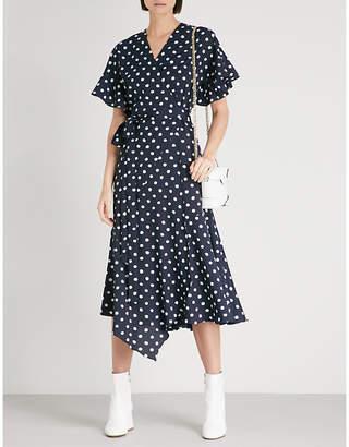 KITRI Eliana polka dot-print crepe midi dress