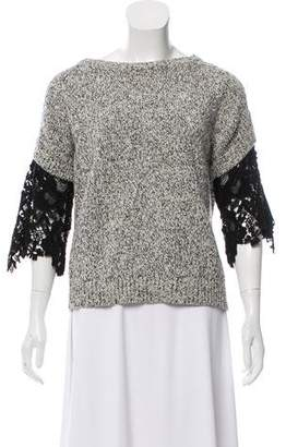 See by Chloe Lace-Acccented Knit Top