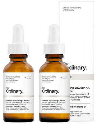 The Ordinary NEW Caffeine Solution 5% + EGCG [Double Pack] 2 x 30ml Womens Skin