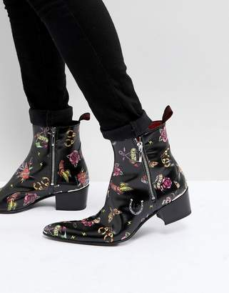 Jeffery West Sylvian Tattoo Boots
