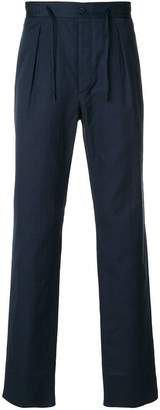 Fendi drawstring straight-leg trousers