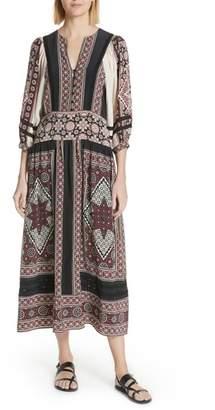Sea Ezri Print Midi Dress