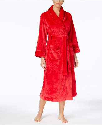 Charter Club Dimple Contrast Long Robe, Created for Macy's