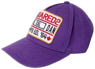 DSQUARED2 Phys Ed. Patch Cotton Gabardine Hat