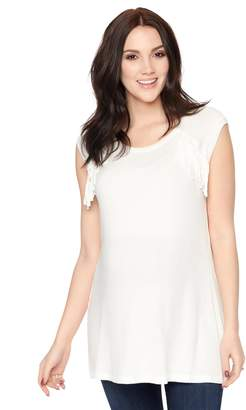 Wendy Bellissimo Motherhood Maternity Fringe Maternity Tee
