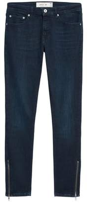 Topman Zip Hem Spray-On Skinny Jeans