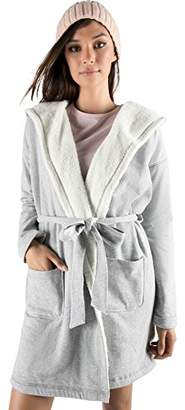 Rebel Canyon Young Women's Lightweight French Terry Hooded Robe with Front Pockets
