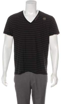G Star Striped V-Neck T-Shirt black Striped V-Neck T-Shirt