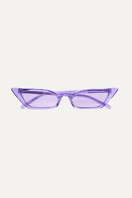 Cat Eye Poppy Lissiman - Le Skinny Cat-eye Acetate Sunglasses - Purple