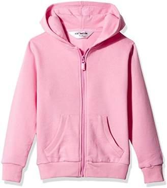 Kid Nation Kids' Solid Brushed Fleece Zip Hooded Sweatshirt in 8 Color M