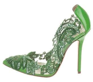 Oscar de la Renta PVC Beaded Pumps