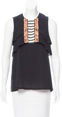 Mayle Embroidered Sleeveless Top