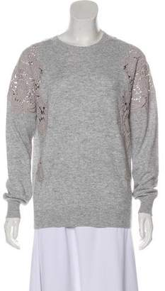 Ted Baker Wool-Blend Rib-Knit Trim Sweater