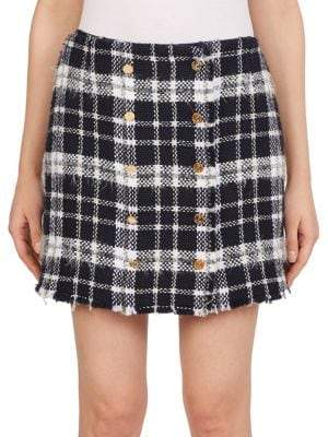 Thom Browne Wool-Blend Tweed Mini Skirt