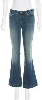 J Brand Mid-Rise Flared Jeans w/ Tags