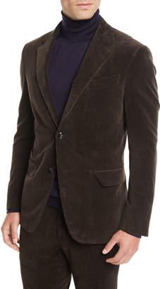 Ermenegildo Zegna Men's Corduroy Two-Button Jacket