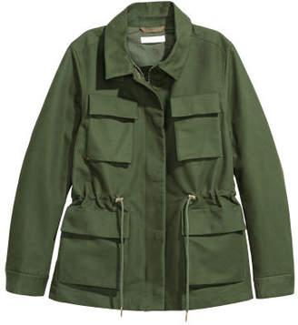 H&M Cotton Cargo Jacket - Green