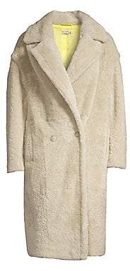 Anne Vest Women's Cozy Double-Breasted Shearling Coat