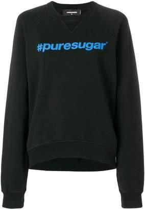 DSQUARED2 puresugar hashtag sweatshirt