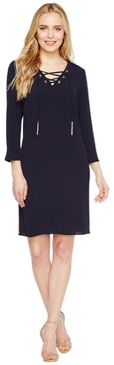 Christin Michaels - Moorpark Crepe Shift Dress Women's Dress $74 thestylecure.com
