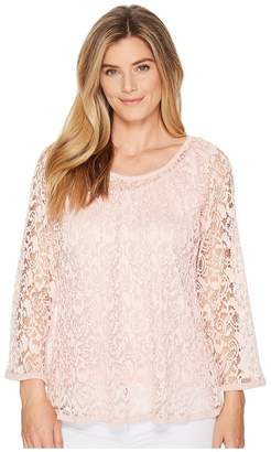Nally & Millie Lace Top Set w/ Tank Layer Women's Clothing