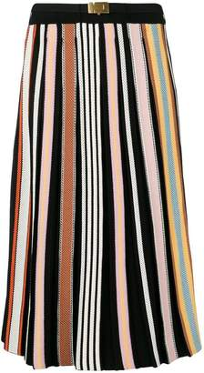 Tory Burch striped pleated skirt