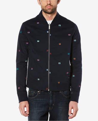 Original Penguin Men's Reversible Embroidered Bomber Jacket, Created for Macy's