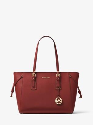 MICHAEL Michael Kors Voyager Medium Crossgrain Leather Tote Bag