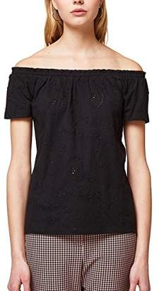 Esprit edc by Women's's 038cc1k037 T-Shirt, (Black 001), X-Small