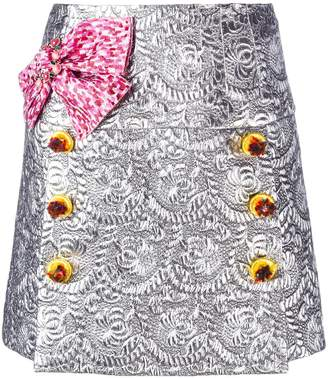 Dolce & Gabbana bow brocade mini skirt