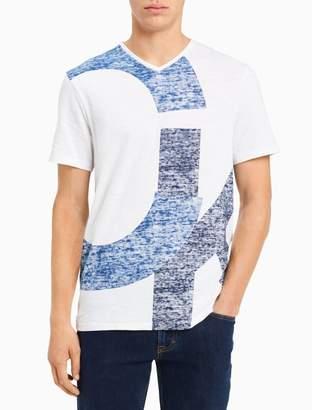 Calvin Klein big + tall v-neck overlap logo t-shirt