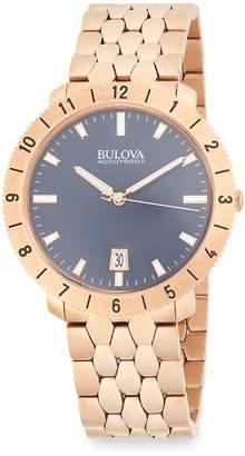 Bulova Men's Moonview Stainless Steel Bracelet Watch