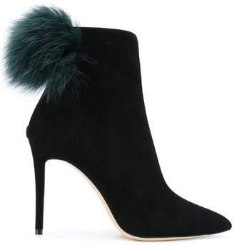 Jimmy Choo Tesler pom pom ankle boots