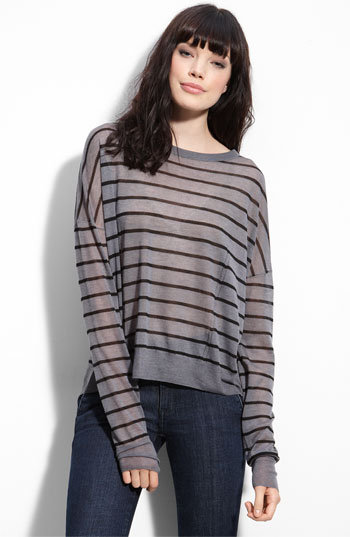 Rag & bone 'Hampstead' Stripe Crop Sweater Rag & bone