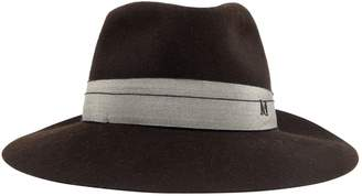 Maison Michel Brown Wool Hats