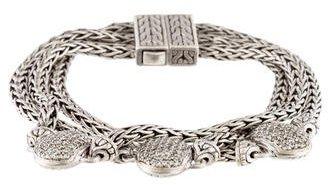 John Hardy Pavé Triple Strand Bracelet $2,495 thestylecure.com
