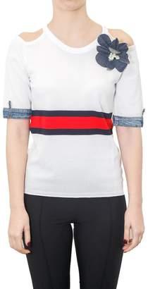 Rachel Zoe Zoe - Short Sleeves Viscose Sweater