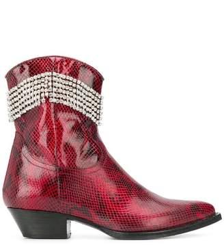 Chiara Ferragni rhinestone fringe boots
