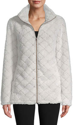 ST. JOHN'S BAY SJB ACTIVE Active Plush Quilted Jacket - Tall