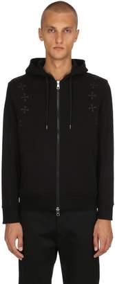Neil Barrett Stars Hooded Zip-Up Jersey Sweatshirt
