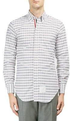 Thom Browne Plaid Cotton Button-Down Shirt