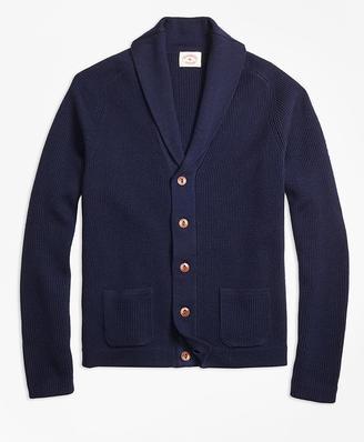 Merino Wool Shawl-Collar Cardigan $198 thestylecure.com