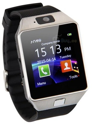 Style Asia Bluetooth Silver Smartwatch with HD Screen for Android & iOS with Camera, SMS Synchronization and Calls Alert (PACK OF 2)