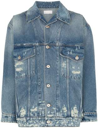 Faith Connexion relaxed fit distressed denim jacket