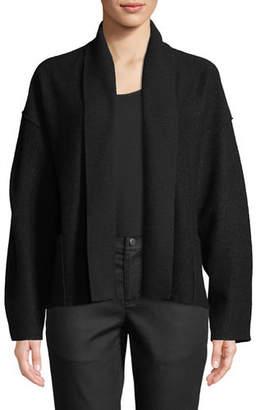 Eileen Fisher Lightweight Boiled Wool Shawl-Collar Jacket, Petite
